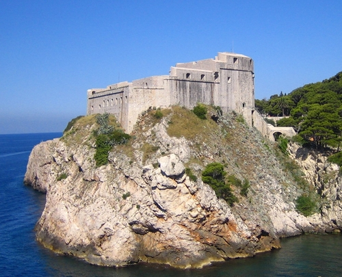 Fort Lovrijenac (Depicted as The Red Keep) Dubrovnik, Croatia in Game of Thrones - Season 6 Episode 1 - The Red Woman