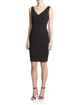 V-Neck Sheath Dress by Escada in Suits