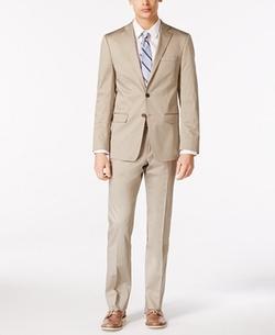 X-Fit Solid Extra Slim-Fit Suit by Calvin Klein in La La Land