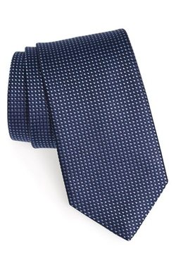 Microcheck Woven Silk Tie by Eton in Arrow