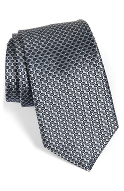 'Small Basket Weave Neat' Woven Silk Tie by Nordstrom in Suits