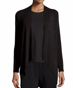 Cozy Drape-Front Cardigan by Eileen Fisher in How To Get Away With Murder