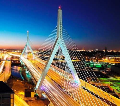 Leonard P. Zakim Bunker Hill Memorial Bridge Boston, Massachusetts in Ted