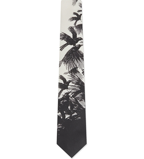Twill Raven Print Tie by D Squared in Brooklyn