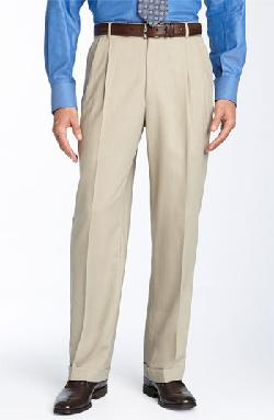 Double Reverse Pleated Wool Twill Trousers by Ballin in The Wolf of Wall Street