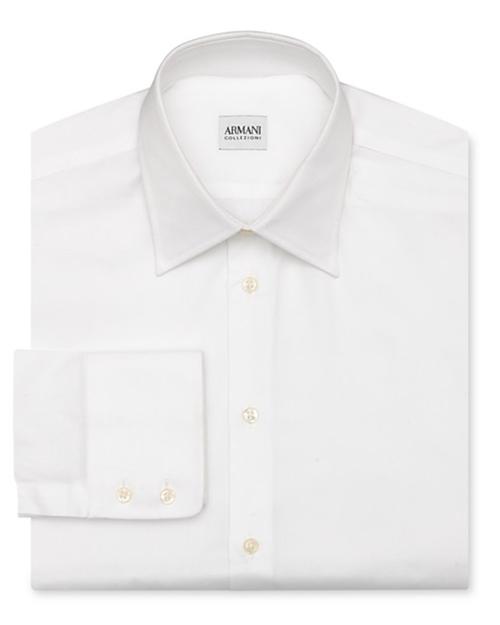 Solid Oxford Dress Shirt by Armani Collezioni in Empire - Season 2 Episode 2