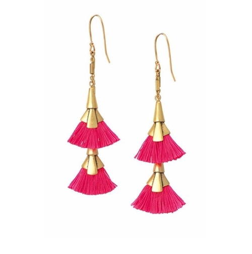 Eden Tassel Chandelier Earrings by Stella & Dot in Pretty Little Liars - Season 7 Episode 4