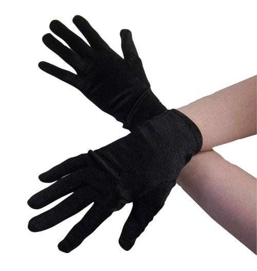 Women's Adult 9 Inch Satin Gloves by Jacobson Hat Company in Get On Up