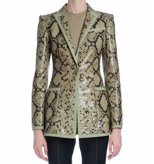 Snake-Embossed Leather Jacket by Givenchy in Empire - Season 2 Episode 16