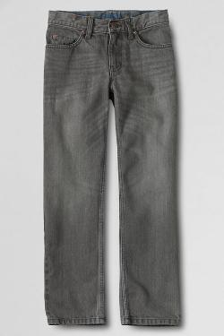 Boys' Iron Knee Classic Fit Colored Jeans by Lands' End in Man of Steel