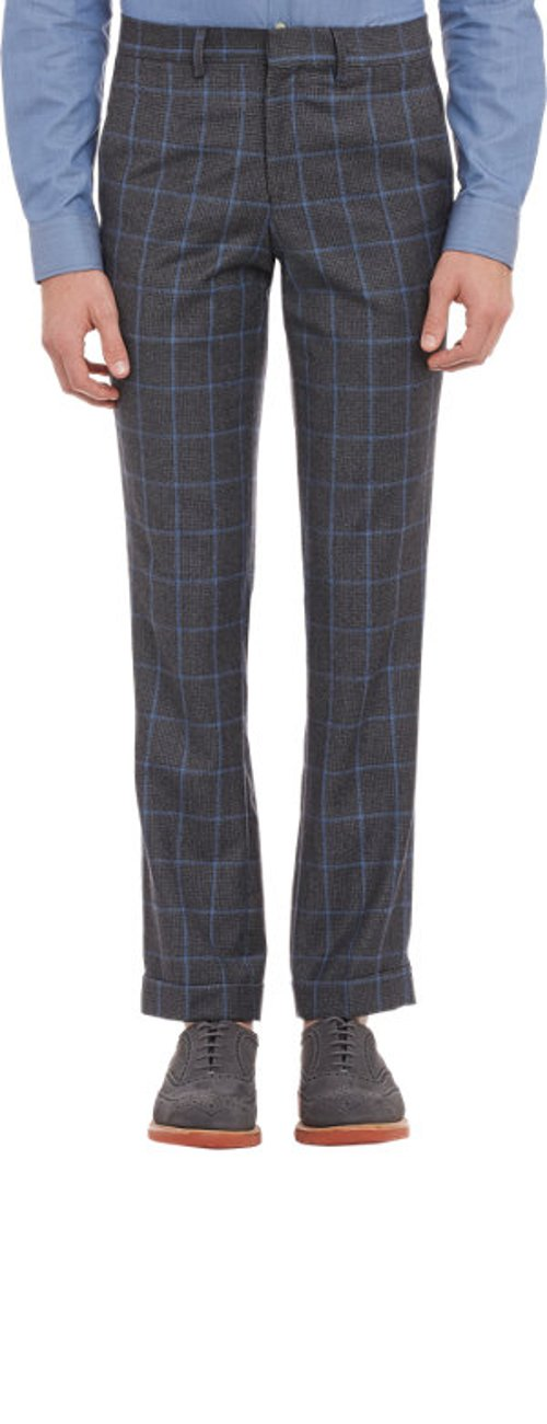 Glen Plaid Cuffed Trousers by Barney's New York in Cinderella