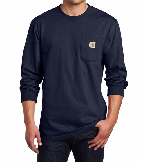 Jersey Pocket Long-Sleeve T-Shirt by Carhartt in The Ranch -  Looks
