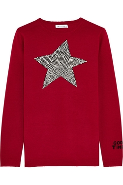 Star Studded Intarsia Merino Wool Sweater by Bella Freud in The Mindy Project