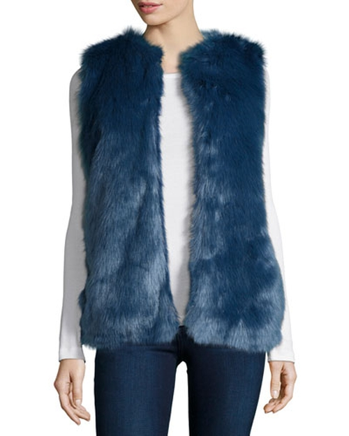 Open-Front Faux-Fur Vest by Cusp by Neiman Marcus in Scream Queens - Season 1 Episode 8
