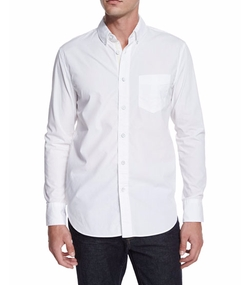 Solid Long-Sleeve Sport Shirt by Rag & Bone in Suits