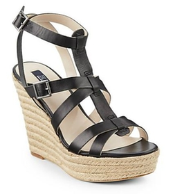Olive Gladiator Wedge Sandals by Saks Fifth Avenue Blue in Pitch Perfect 2