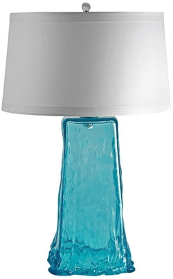 Aqua Wave Recycled Glass Table Lamp by Lamps Plus in The Best of Me