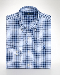 Checked Sport Shirt by Ralph Lauren in Trainwreck
