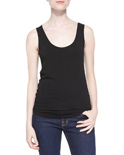 Marrow Edge Stretch Jersey Tank Top by Majestic Paris for Neiman Marcus in Furious 7