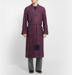 York Plaid Wool Dressing Gown Robe by Derek Rose in X-Men: Days of Future Past