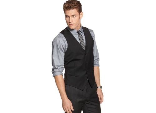 Solid Slim-Fit Vest by Alfani Red in Black or White