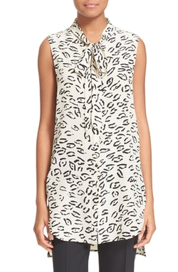 Print Sleeveless Silk Tunic Top by Tracy Reese in Pretty Little Liars