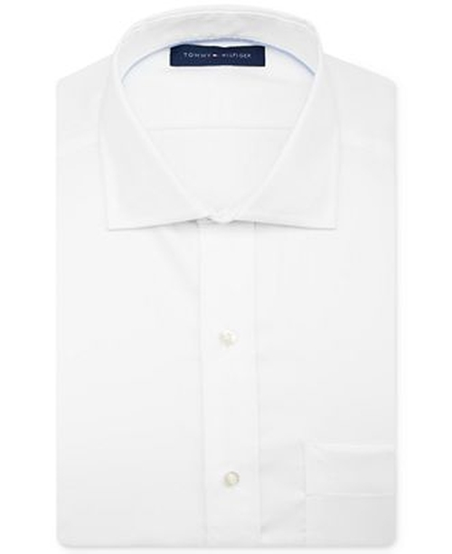 Non-Iron Solid Dress Shirt by Tommy Hilfiger in Secret in Their Eyes
