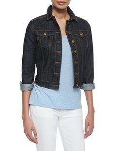 Dymchurch Denim Cropped Trucker Jacket by Burberry Brit in How To Get Away With Murder