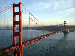 San Francisco, California by Golden Gate Bridge in Godzilla