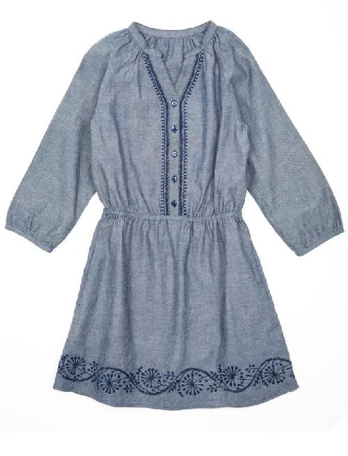 Tween Denim Chambray Ryder Dress by Pink Chicken in Oculus