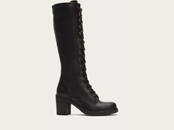 Karen Lace Up Tall Boots by Frye in GoldenEye