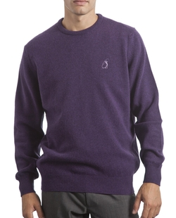 Cashmere Plain Crew Neck Sweater by Glenmuir Scotland in Love Actually