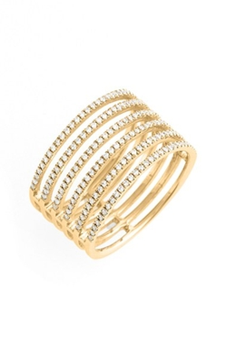Diamond Stack Ring by Bon Levy in Knock Knock