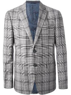 Check Blazer by Etro in Anchorman 2: The Legend Continues