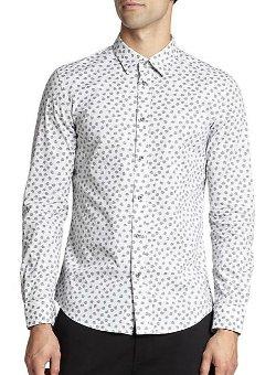 Stretch Cotton Skull-Print Sportshirt by Diesel in (500) Days of Summer