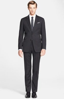 'Giorgio' Trim Fit Wool Suit by Armani Collezioni in Arrow