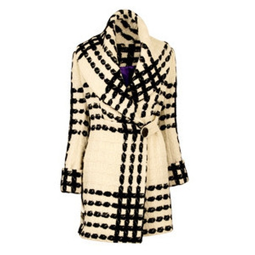 Shawl Collar Rope Tweed Coat by Matthew Williamson in Confessions of a Shopaholic