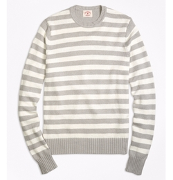 Variegated Stripe Crewneck Sweater by Brooks Brothers in Fuller House