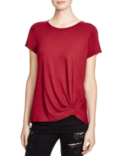 Gathered Front Tee by Michael Stars in Scream Queens