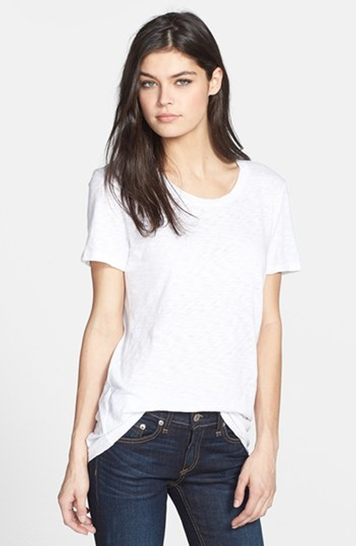 Slubbed Cotton Tee by Rag & Bone/Jean in The Boy Next Door