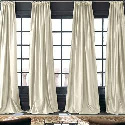 Grandeur Silk Rod-Pocket/Back-Tab Curtain Panel by Royal Velvet in Oculus