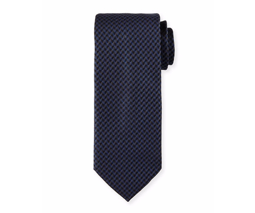 Woven Mini-Houndstooth Silk Tie by Brioni in Suits - Season 6 Episode 2