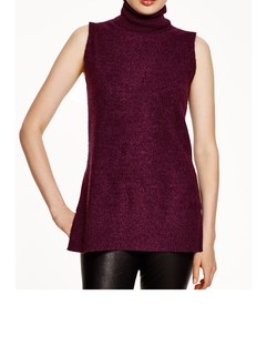 Turtleneck Sleeveless Sweater by Aqua Cashmere in Fuller House