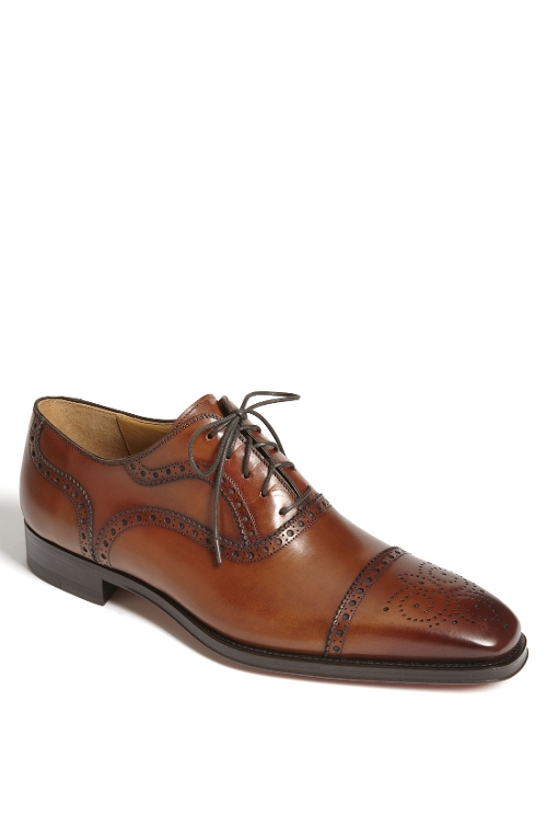 'Santiago' Cap Toe Oxford Shoes by Magnanni in Self/Less