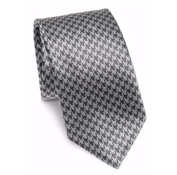 Jacquard Printed Silk Tie by Brioni in Suits