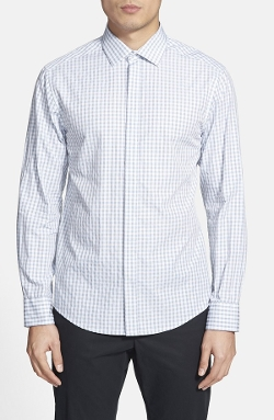 Slim Fit Check Sport Shirt by Vince Camuto in Mean Girls