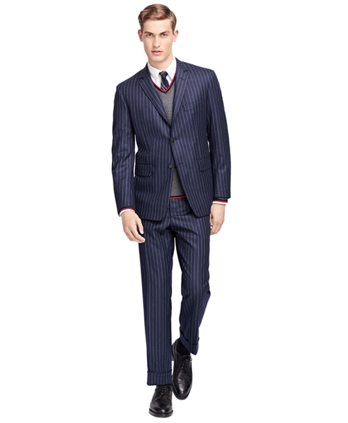 Stripe Suit by Brooks Brothers in Billions - Season 1 Episode 1