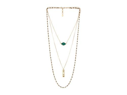 Triple Layer Stone Necklace by Lucky Brand in St. Vincent