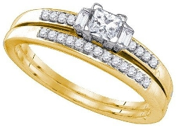 Bridal Set Wedding Ring Set by Rings-Midwestjewellery.com in The D Train
