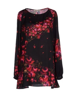 Floral Blouse by Paolo Casalini in Black-ish